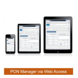 PON Manager via Web Access